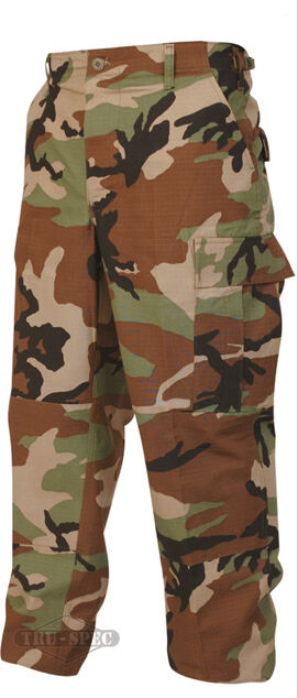 Woodland Camo Men's BDU Uniform Pants   TRU-SPEC   Various Sizes & Material