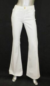 9def74bcd1b MICHAEL KORS NWT Selma White Stretch Denim High Rise Flare Leg Jeans ...