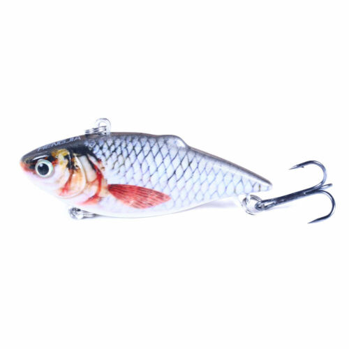 5PCS//Box 6.5cm//8.5g Crankbait Vibration Fishing Lure Minnow Swimbait Bait Tackle