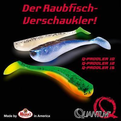 Mann´s Q-Paddler Quantum Gummifisch Set für trübes W - 6x 12cm Lockstoff