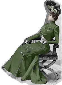 Edwardian Pattern for 1901 Walking Suit - Unique design - Sized for you