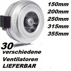 25cm-Rohrluefter-Kanalluefter-Rohr-Kanal-Abluft-Luefter-Raumluefter-Ventilator