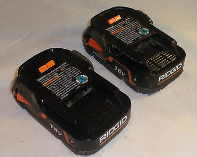 2 x Ridgid R840085 18V 1.5Ah Hyper Li-ion Slim Battery Compatible to AEG L1815R