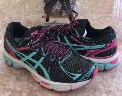 Asics Gel Exalt 2 Women BlackWhitePink Athletic Running Shoes Sz 7.5 T4B6Q EUC   eBay