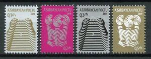 Azerbaijan-2019-MNH-Architecture-Definitives-4v-Set-Stamps