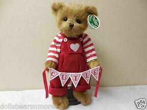 "NEW 2015 Bearington Bears 14"" ""Q.T.PIE"" w\CUTIE BANNER Valentine's Day #190087"