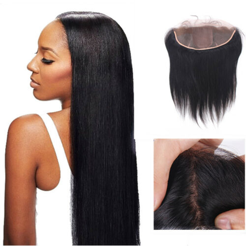 Wholesale Virgin Indian Hair Silk Base Closures Lace Frontal Hair Pieces 13x4 6A