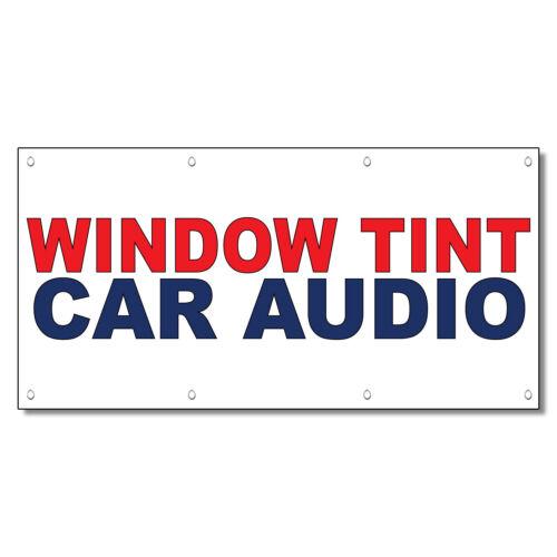 Window Tint Car Audio Red Blue Auto Car Repair Shop Vinyl Banner Sign