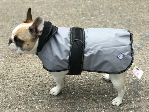 Danish Design Dog Coat 2 n 1 all seasons fits French Bulldog Grey remove layer