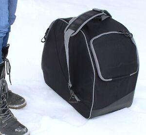 QMBasic Gepolsterte Skischuhtasche für Skistiefel Skihelm Skibrille Schwarz
