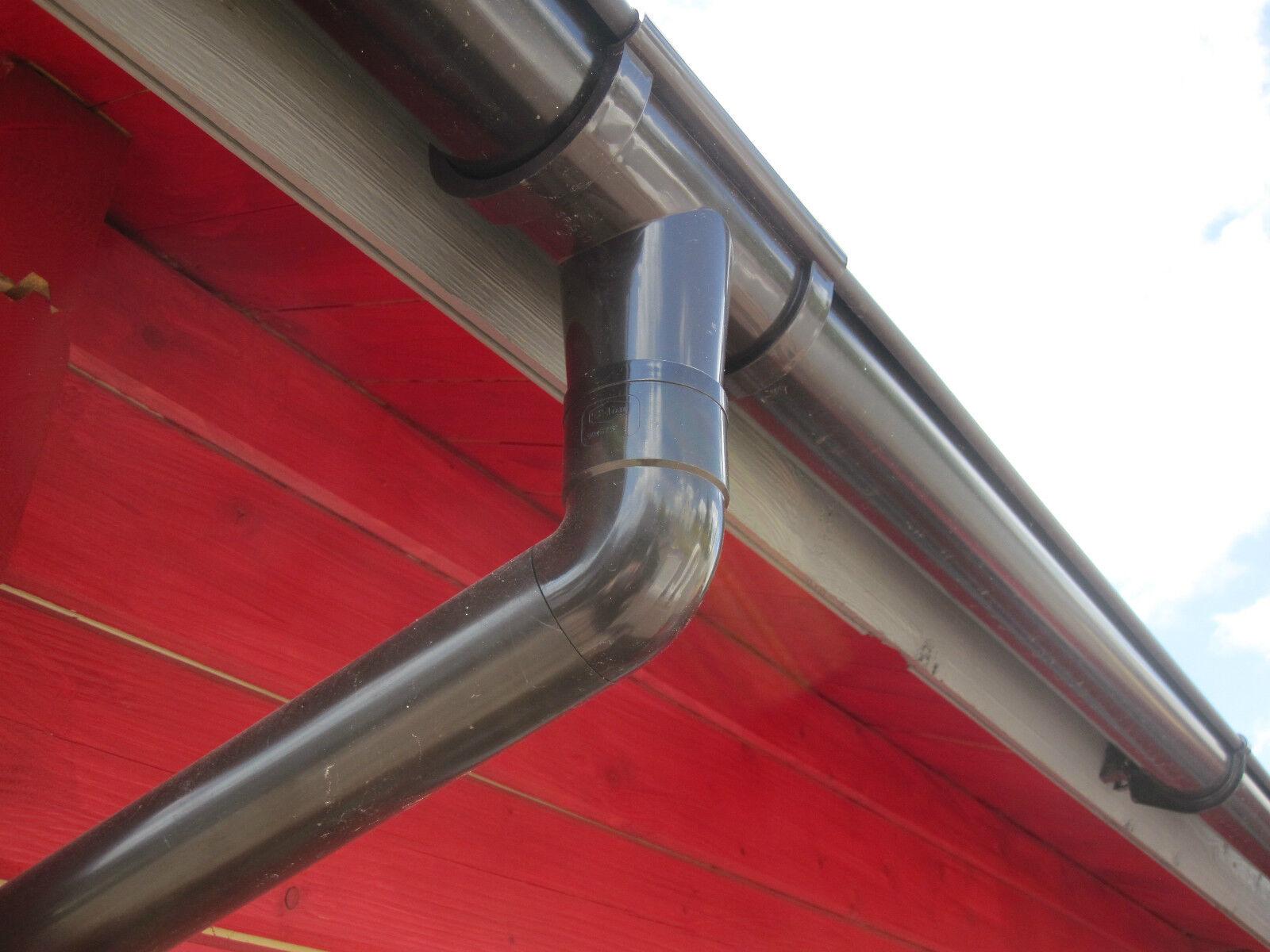 regenrinne für gartenhaus dachrinne für 2-seitige dachlänge 500 cm