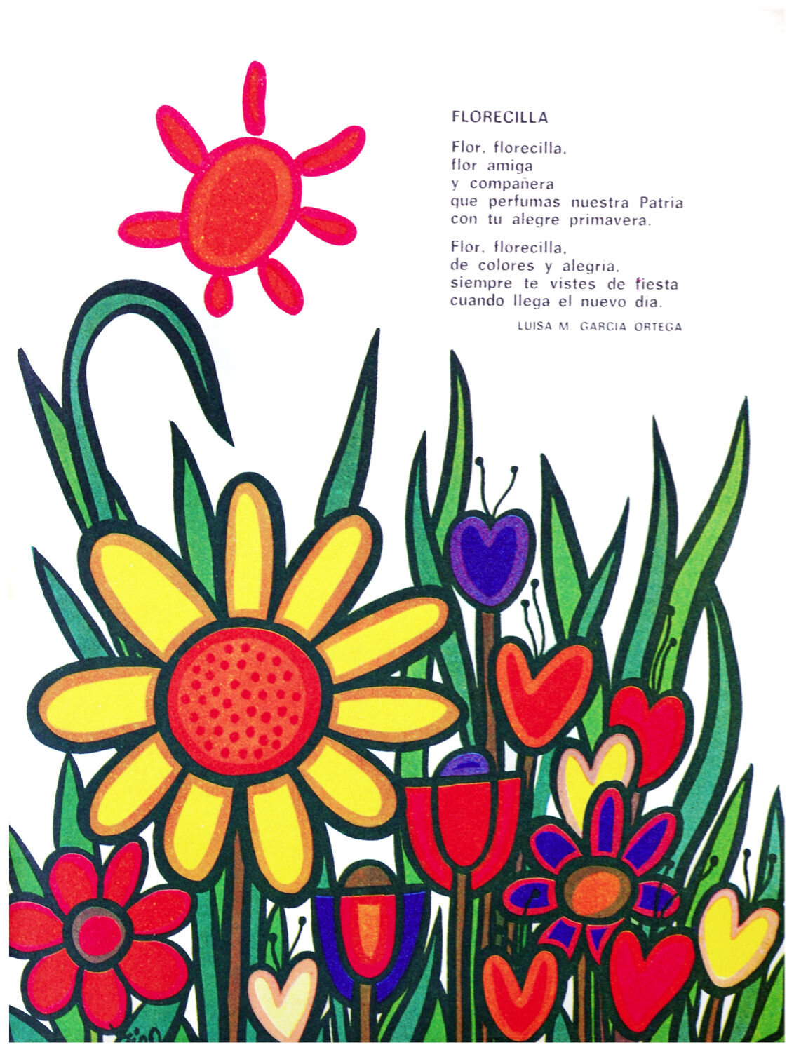 654.Florecilla Coloreeeeful Art Decoration POSTER.Graphics to decorate home office.