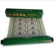 USA $2 Uncut Banknote 16-in-1 in tube (UNC)  2美元 16连体整版钞 巨钞瑰宝