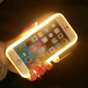 huge discount 243f6 170bb Details about Case For iPhone 7 Plus 6 6S 5 5S SE Light Up Selfie Flash  Cases illuminated Back