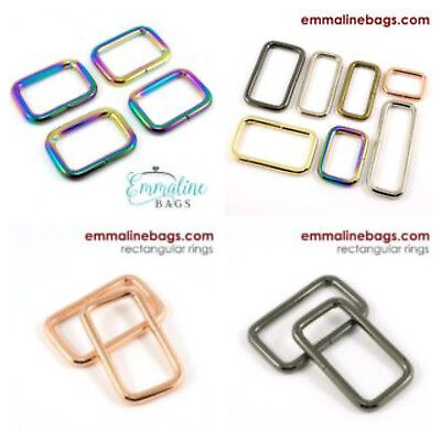 "bags /& crafts - range of finishes Emmaline Bags rectangale rings 1 1//2/"" 38mm"