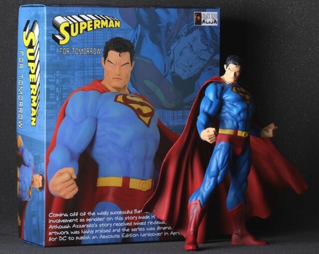 "Action Superman DC Comics 12"" Clark Kent Statue Figure Man of Steel Crazy Toys"