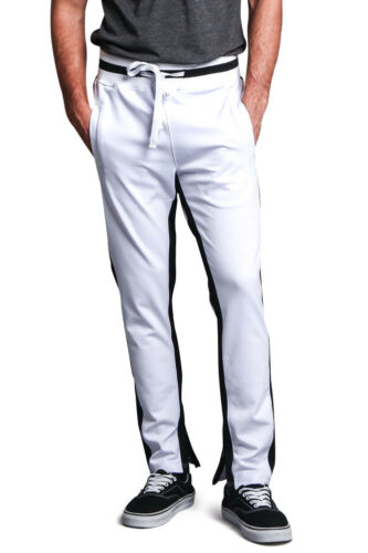 Men/'s Ankle Zip Stretch Slim Fit Workout Techno Track Pants-TR511-F4A,TR513-F10D