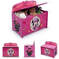 Minnie Toy Box Storage Organizer Girl Kids Toys Chest Bench Shoes Bedroom