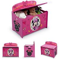 Minnie Toy Box Storage Organizer Girl Kids Toys Chest Bench Shoes Bedroom