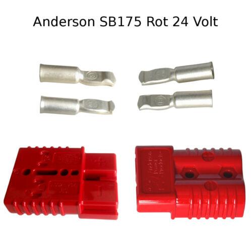 Anderson Batteria Connettore Set Rosso 24v sb175 contatto penne Anderson 53,3mm² awg1//0