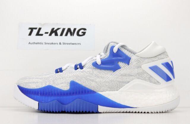 buy popular 0adaf 0c021 Adidas Crazylight Boost Low 2016 White Blue Grey James Harden B42601  100 JE