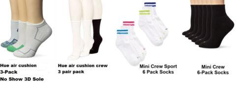Hue 3 pair Socks air cushion Mini Crew Spor