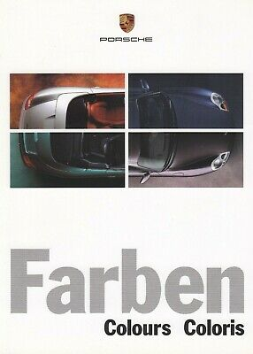 Porsche 911 996 Boxster 986 Farben Colour Trim Guideprospekt Brochure 1999 97 Parts & Accessories