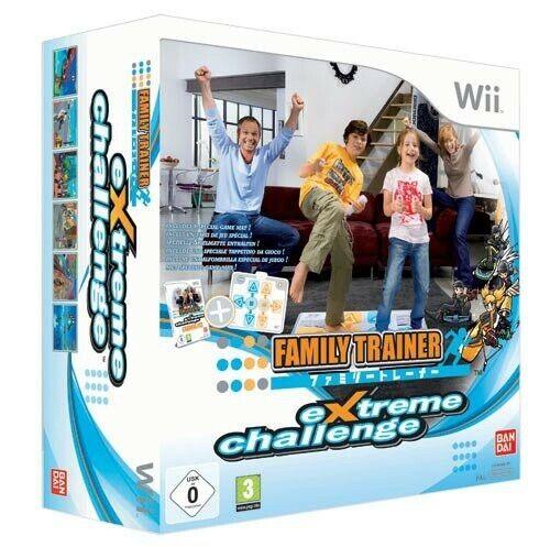 Wii Family Trainer: Extreme Challenge + tapis de danse dans l'emballage utilisé