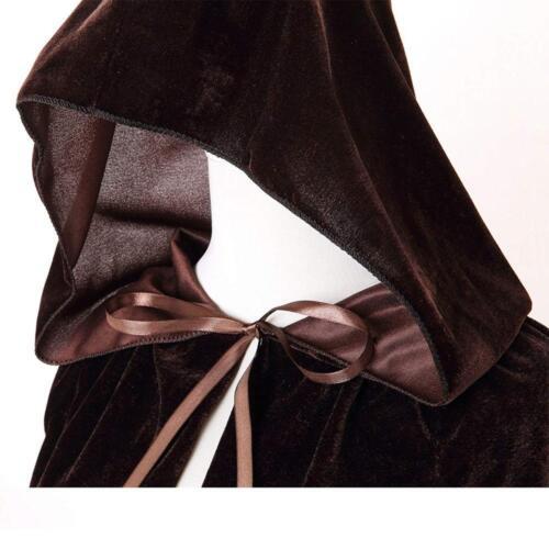 BIGXIAN Kids Hooded Velvet Cloak Halloween Christmas Fancy Cape for