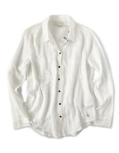 5cc5a1a1 Details about Lucky Brand - Women's S - NWT - Natural Off-White Gauze Button -Down Shirt