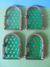 PLaymobil  Set B- WARE!!!!!!!  defekt!! 4 Stück Butzen Fenster Museum 3666 3449