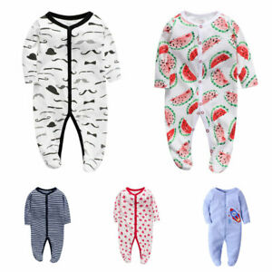 kids clothes boys girls daily one piece footie cotton bodysuit birthday jumpers