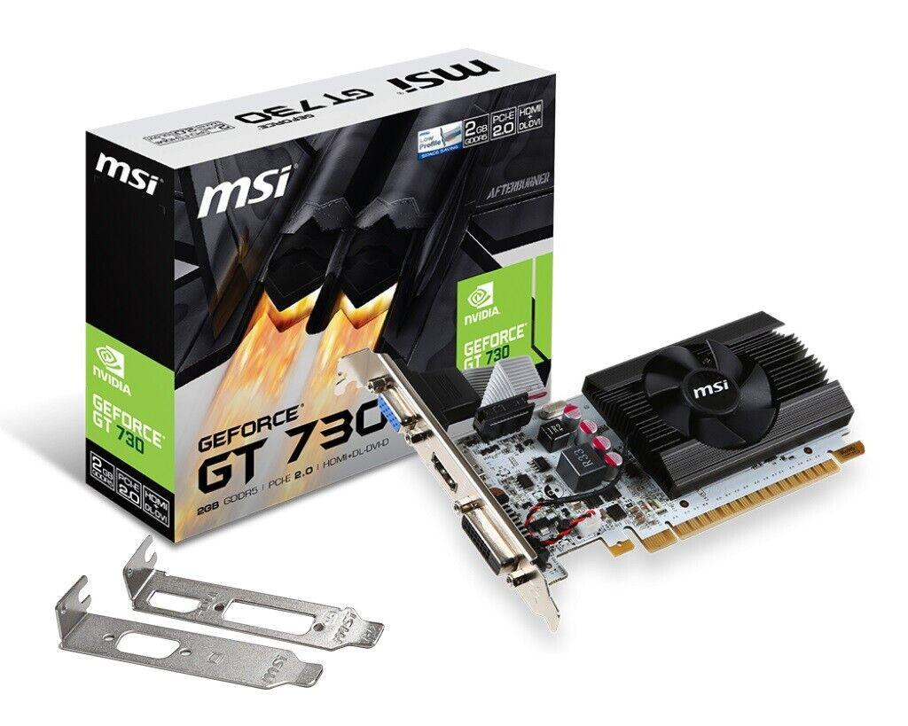 [REFURBISHED] MSI GeForce N730K-2GD5LP/OC Graphics Card, PCI-E x16, Low Profile