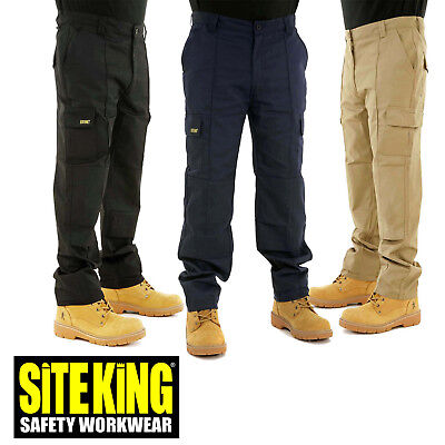 2019 Mode Site King Mens Cargo Combat Work Trousers With Knee Pad Pockets - Genuine 004 Attraktive Designs;