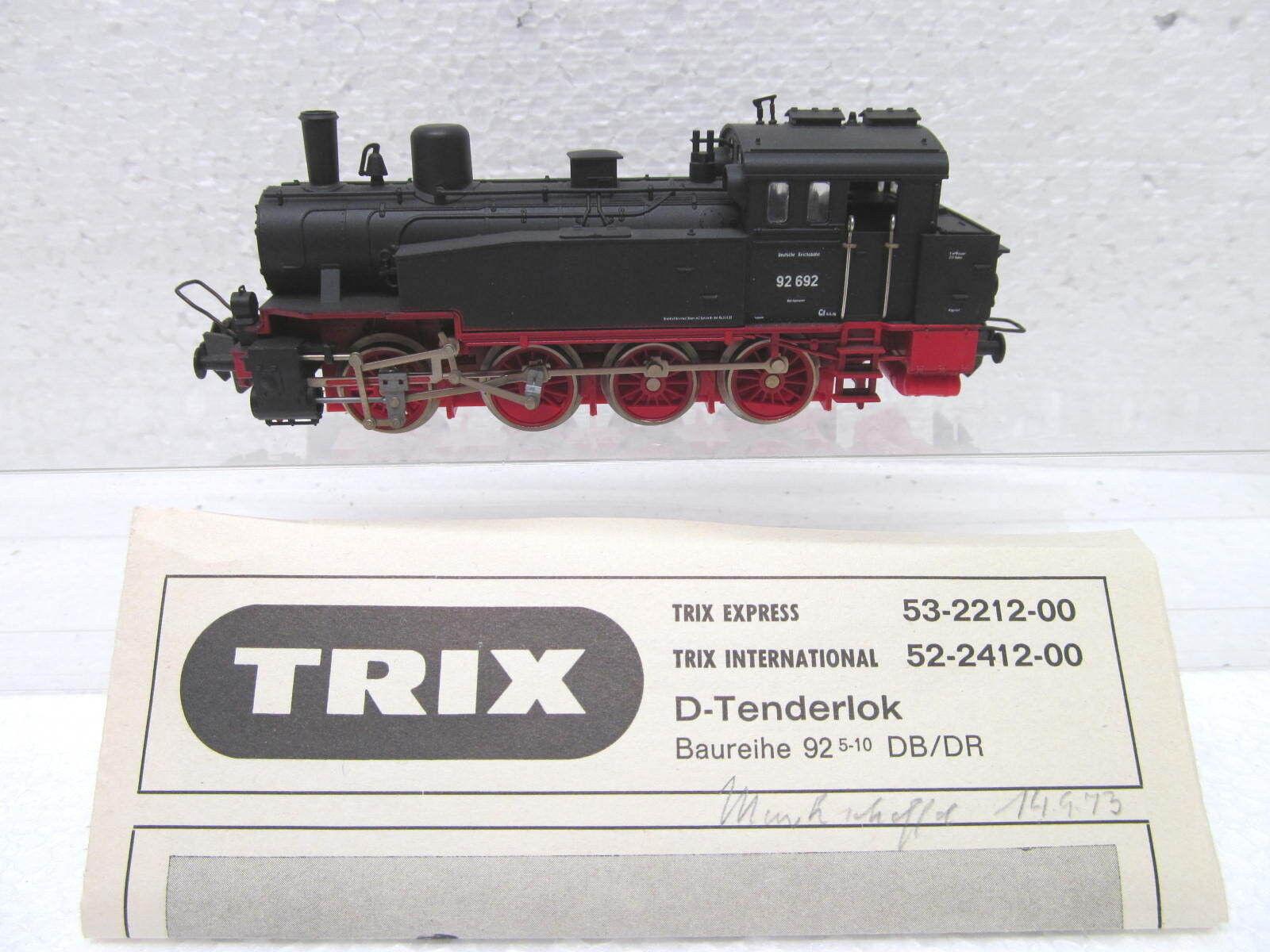 Mes-39750 Trix internally. 52-2412-00 h0 Steam Locomotive DRG 92 692 very good condition,