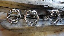 Lawrence Welk Rhodium Silver Adjustable 10x12mm Oval Ring (pkg 3) 0416