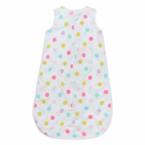 NIP Okie Dokie Wearable Blanket//Sleeper White Dots 2-Way Zipper 6-12 mos