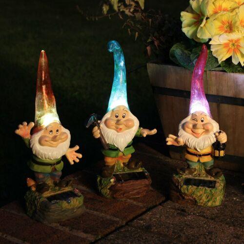 À énergie Solaire Extérieur Jardin Nouveauté Gnome Lumières parterres frontières /& Pathway