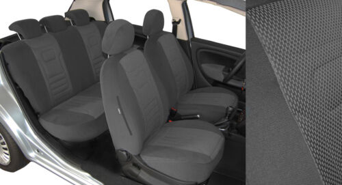 Maßgefertigte 2K Velours Stripes Sitzbezüge VW CADDY 3 TrueColorGrau