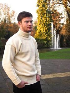 Wool British Submarinerfisherman Roll Neck 100 Sweaterjumper aqwS4xUH