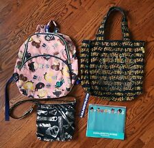 Harajuku Lovers Gwen Steffani Tote Crossbody Purse Backpack Makeup Bag Lot of 4