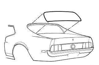 Mustang Rear Window Weatherstrip Coupe 1971 1972 1973 - Daniel Carpenter