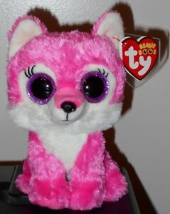"""Ty Beanie Boos ~ IRIS the Wolf 6/"""" Great Wolf Lodge Exclusive NEW MWMT"""