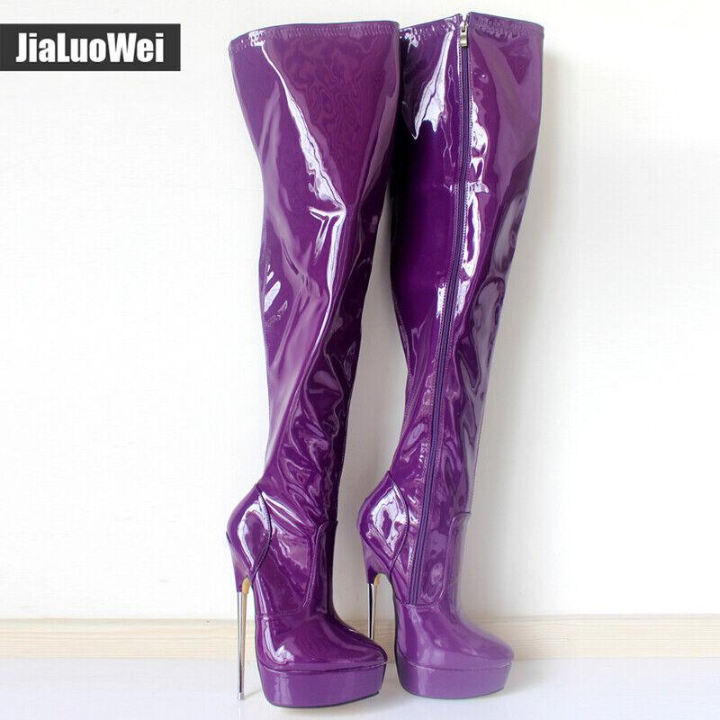 36-46 Damenpumps Stangentanz Nachtclub High Heel Stiletto Overknee Stiefel Sexy