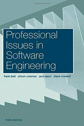 Professional Issues In Software Engineering By A Coleman Frank Bott J Eaton And D Rowland 2000 Trade Paperback Revised Edition New Edition For Sale Online Ebay