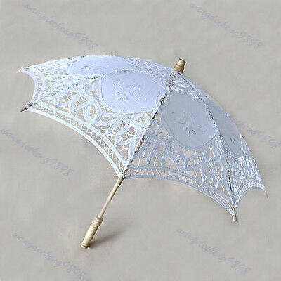 Hotsale Lace Parasol Umbrella Embroider For Bridal Wedding Decorate