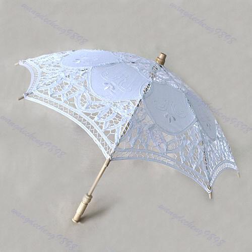 Optional Size Color Lace Parasol Embroider Umbrella For Bridal Wedding Decorate
