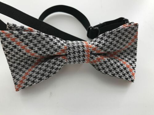 Pre-Tied Silk Bowtie Wedding bowtie Houndstooth Bow tie Bowtie