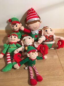 Job-lot-Bundle-Of-Soft-Plush-Small-Sized-Elf-Elves-Toy-Teddys-Christmas