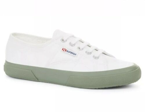 Trainers Classic Womens Green Uk5 White 2750 Superga Cotu ftIxBtq